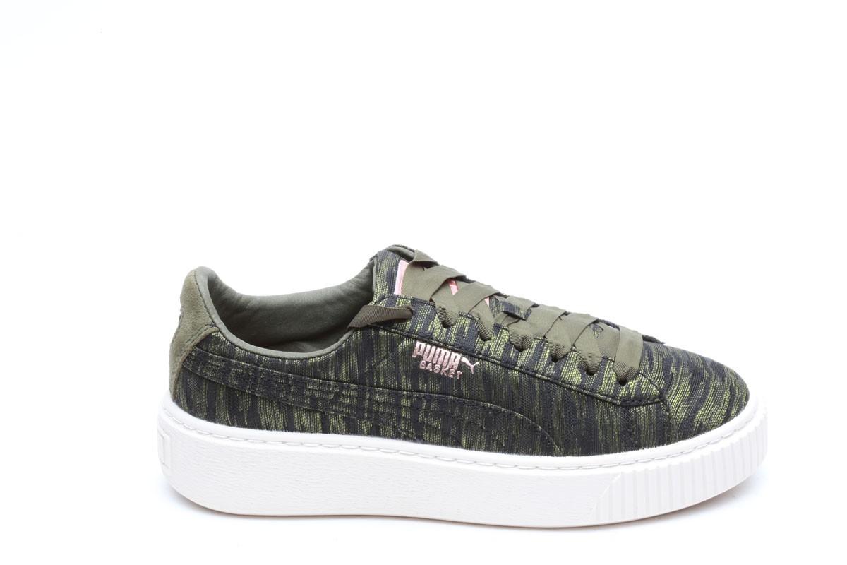 PUMA Basket Platform VR Sneaker Donna Scarpe 364092 01 VERDE