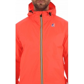 K-WAY LE VRAI 3.01 CLAUDE Dtm K004BD0 Red Fluo Uomo