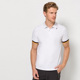 K-Way Vincent Contrast Polo K00AI40  Bianco