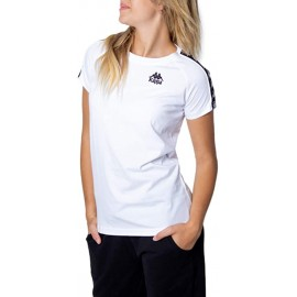 KAPPA T-SHIRT Donna 303WGP0 Bianco/Nero
