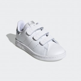 ADIDAS  STAN SMITH GIRL EE8484 BIANCO GLITTER