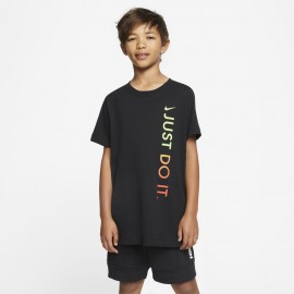 NIKE - T-SHIRT JUST DO IT VERTICAL BAMBINO NERO CU4571