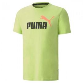 PUMA T-SHIRT UOMO ESS 2 COL LOGO TEE 583714  VERDE LIME