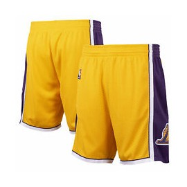 MITCHELL & NESS BERMUDA LOS ANGELES LAKERS 17075 GIALLO