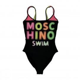 Moschino Costume Intero Donna A8113 Nero/Fluo