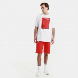 KAPPA AUTHENTIC HB T-SHIRT ENFAS  3116FLW - WHITE - RED MD
