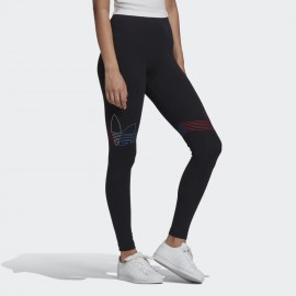 ADIDAS LEGGINGS LOUNGEWEAR ADICOLOR TRICOLOR GN2867 BLACK