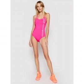 EA7  Bikini Donna Intero  con logo 911140  Pink Fluo