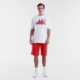 KAPPA  Pantaloncini  Authentic HB EKAR 3116FSW RED-WHITE