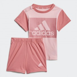 ADIDAS COMPLETO ESSENTIALS TEE AND SHORTS GN3927 PINK