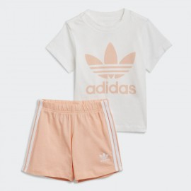 ADIDAS COMPLETO TREFOIL SHORTS TEE GN8192 BIANCO/ROSA