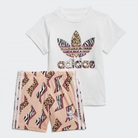 ADIDAS COMPLETO GRAPHIC PRINT SHORTS TEE GN2228 WHITE